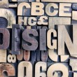 Design word on letterpress — Stock Photo #3207212