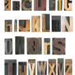 Letterpress alphabet - Stock Photo