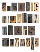 Letterpress alphabet — Stock Photo