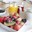 Stock Photo: Healthy breakfast with fruit and juice