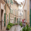 Stock Photo: Alley in mediterranean