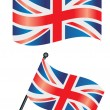 Stock Vector: British flag