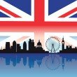 Detailed silhouette of london skyline — Vector de stock #3749749