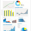 Selection of fictional graphs — Stock Vector