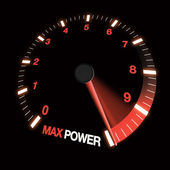 Max power speed dial — Stock Photo