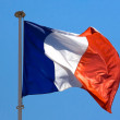 French flag on blue sky — Stock Photo