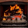 Chimney fire - Stock Photo