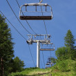 Empty ski lift during the summer - Foto Stock