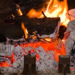 Chimney fire — Stock Photo