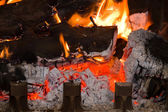 Chimney fire — Stock Photo