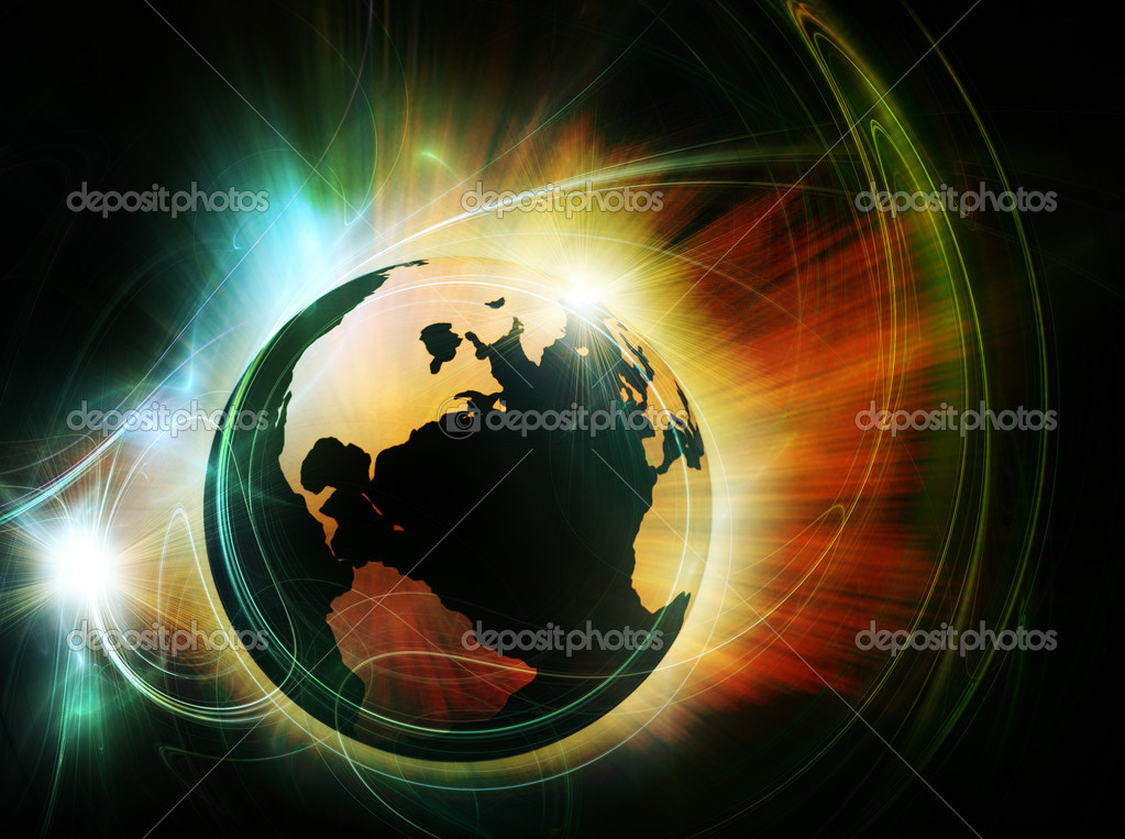 Earth in fire — Stock Photo #2727224