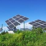 Photovoltaic panels . — Stock Photo