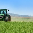 Green tractor . — Stock Photo