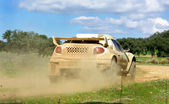 Car in competition in rally off-road. — Stock Photo