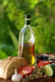 Ingredients of the kitchen mediterranea — Stock Photo