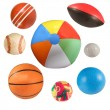 Sports balls collection isolated — Stock Photo