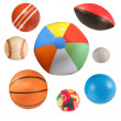 Sports balls collection isolated — Stock Photo #3420482