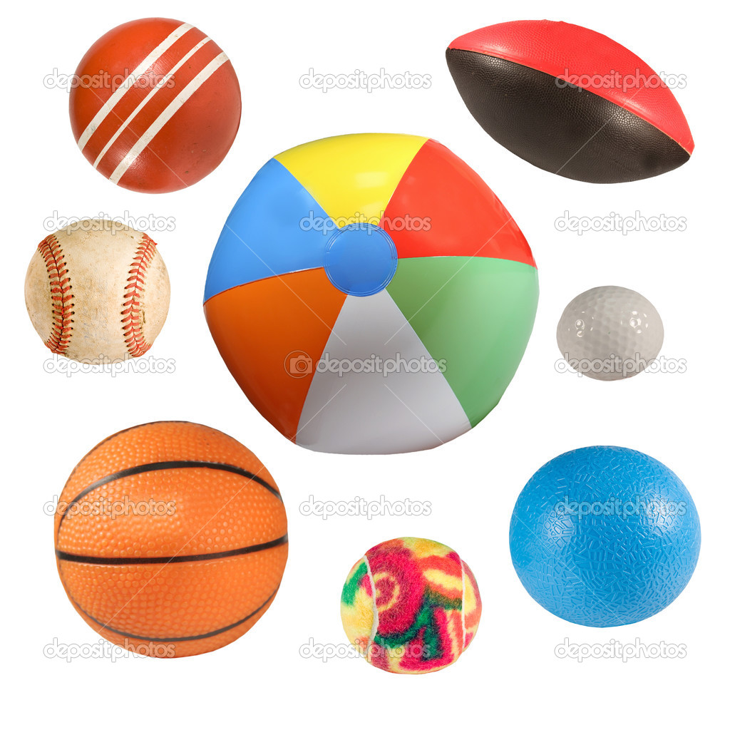 Collection of sports balls isolated over white background — Stock Photo #3420482