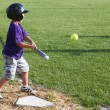 Постер, плакат: Hitting the baseball