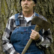 Stock Photo: Lumberjack portrait in verticle format