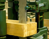Ihdustrial band saw sawmill — Stock Photo