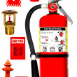 Fire protection collection — Stock Photo