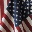 Two American flags — Stock Photo