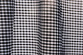 Black and white gingham fabric — Stock Photo