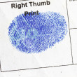 Right Thumb Finger Print — Stock Photo