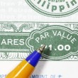 Stock Photo: Share par value