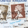 Old Queen Postage Stamp — Stock Photo