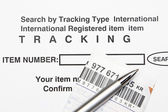 Tracking number — Stock Photo