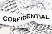 Confidential papers just shredded for security protection — Stock Photo