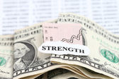 Business Chart Getting Stronger — Stock Photo