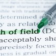 Stock Photo: Depth of field