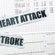 Heart attack and stroke — Stock Photo