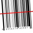 Barcode scanned - Stock Photo