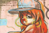 Grafitti on the fence wall — Stock Photo