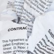 Torn Contract — Stock Photo