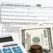 Stock Photo: 1040 tax form