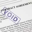 Void stamp on a contract agreement. — Stock Photo
