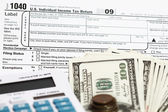 1040 tax form — Stockfoto