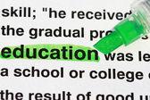 Evidenziatore e parola educazione — Foto Stock