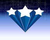 Beautiful blue star — Stock Photo