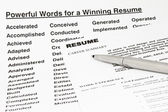 Powerful words for winning resume — Stock Photo