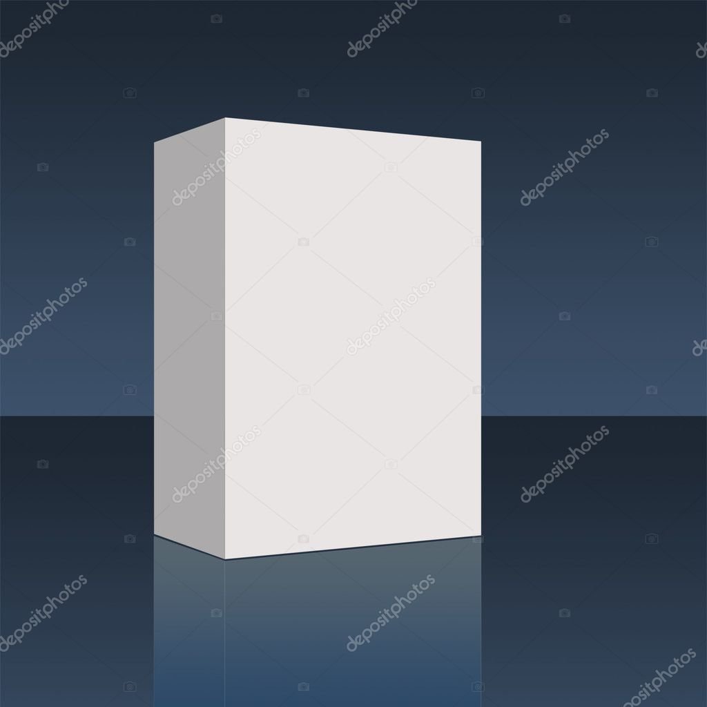 Plain empty pacakging box - illustration high resolution digital.  Stock Photo #3769777