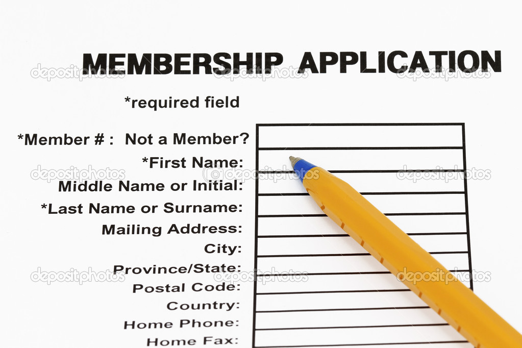 Membership application form - Stock Image