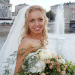 Stock Photo: Smiling beautiful bride