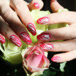 Nail art design - Stock Photo