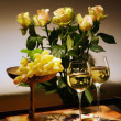Still-life with white wine — Stock Photo